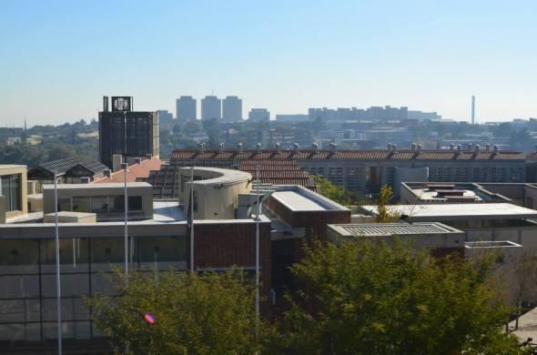 Johannesburgo visto desde el antiguo fuerte en Constitution Hill