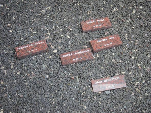 Víctimas de la Masacre de Soweto en el Museo de Héctor Pieterson