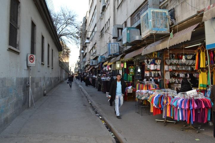 Pequeño bazar en el centro de Teherán