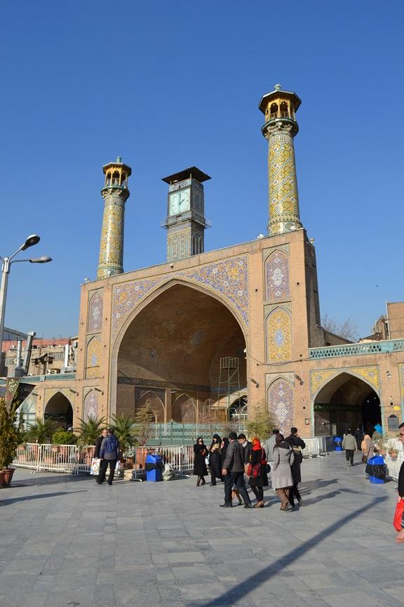 Mezquita en el interior del Gran Bazar de Teherán