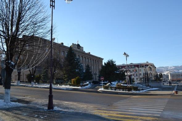 Palacio Presidencial en la Plaza del Renacimiento de Stepanakert