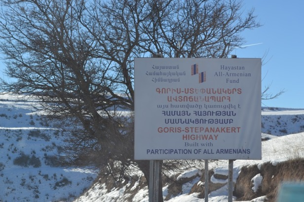 De camino entre Yereván y Stepanakert