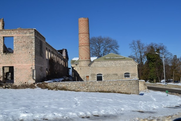 Ruinas de la guerra en Shushi, Nagorno-Karabakh