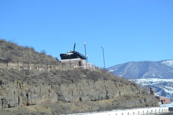 Tanque de la Guerra de Nagorno-Karabakh en Shushi