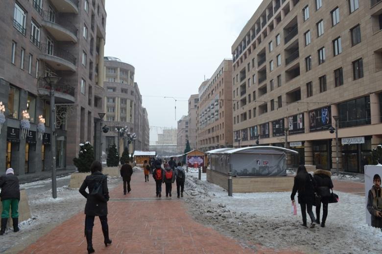 Avenida del Norte en Yereván