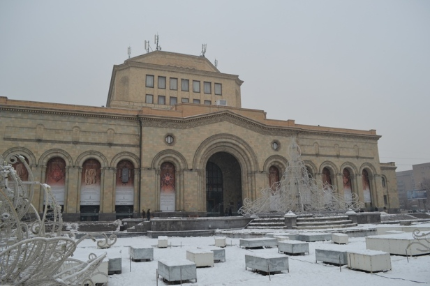 Plaza de la República en Yereván, Armenia