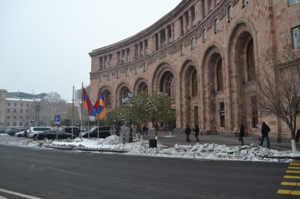 Ministerio de Relaciones Exteriores en la Plaza de la República en Yereván, Armenia