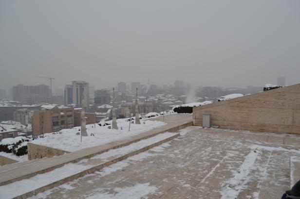 Panorámica de Yereván desde la Cascada