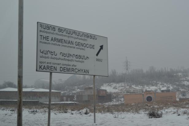 Entrada al Museo del Genocidio Armenio