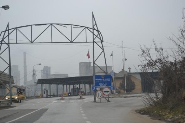 Frontera entre Macedonia y Kosovo (lado kosovar)