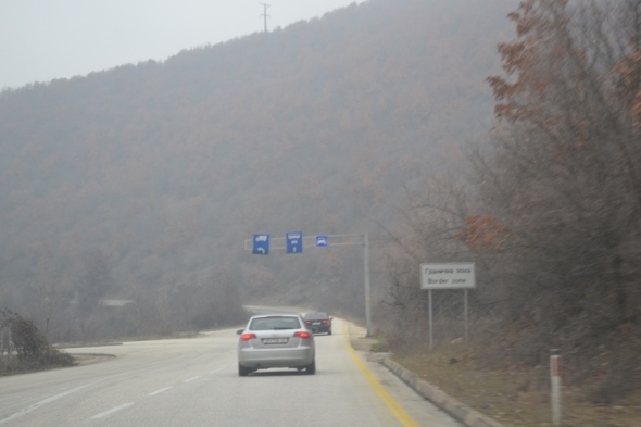Vía entre Skopje y la frontera entre Macedonia y Kosovo