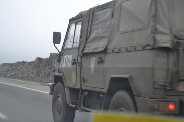 Fuerzas de la ONU en Kosovo en territorio albanés