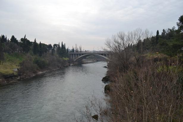 Puente en el centro de Podgorica