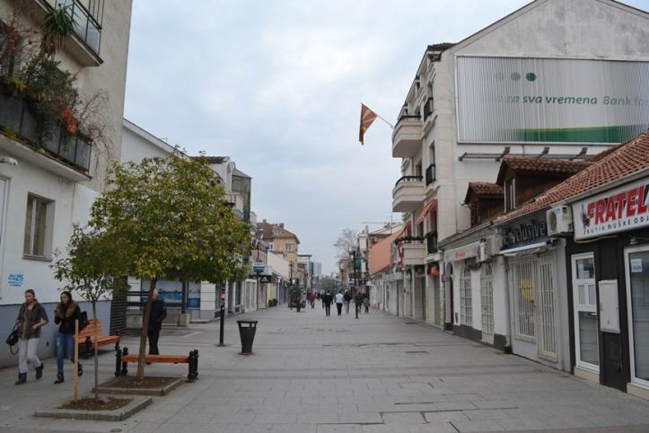 Calle peatonal en el Centro de Podgorica