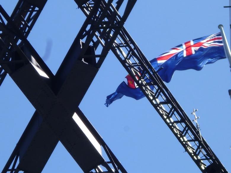 Bandera de Nueva Gales del Sur en el Harbour Bridge