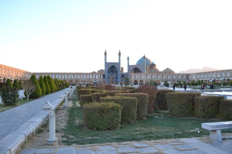 Mezquita del Sha en la Plaza Naqsh-e Jahan en Isfahán, Irán