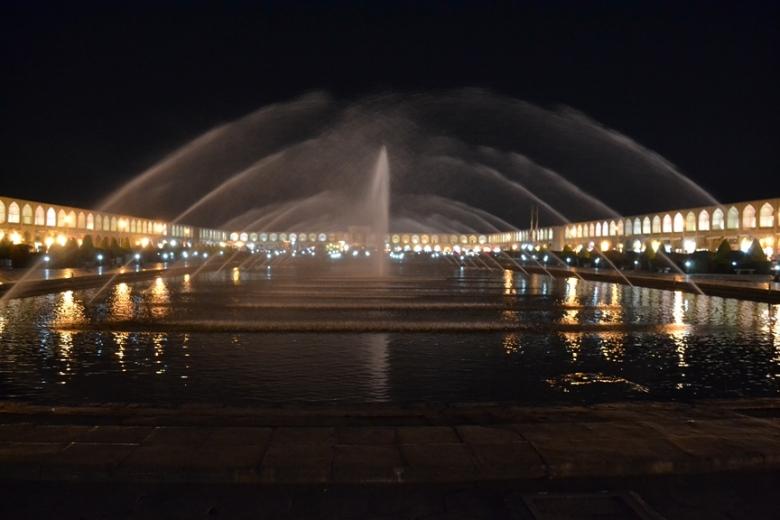 Panorámica de la Plaza Naqsh-e Jahan en Isfahán, Irán
