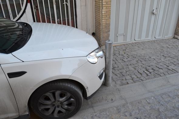 Y así estacionan en Isfahán