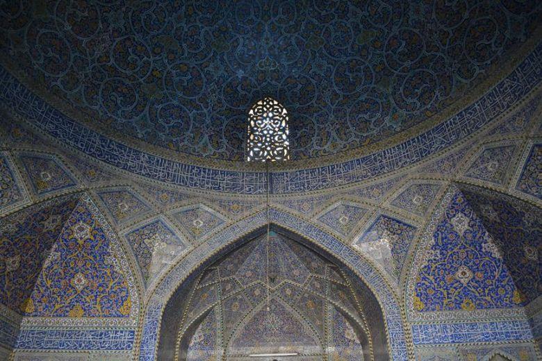 Mezquita en el centro de Isfahán