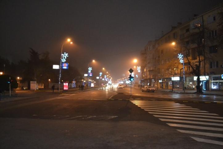 Centro de Skopje visto desde la Puerta de Macedonia