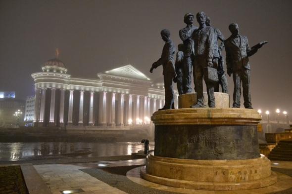 Esculturas en la Plaza Macedonia