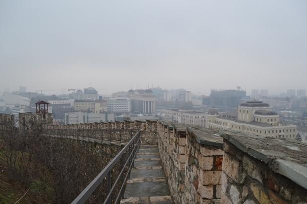 Skopje vista desde la fortaleza