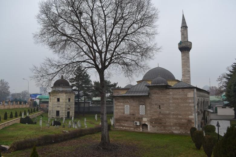 Mezquita en el Gran Bazar de Skopje