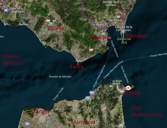 Mapa Estrecho