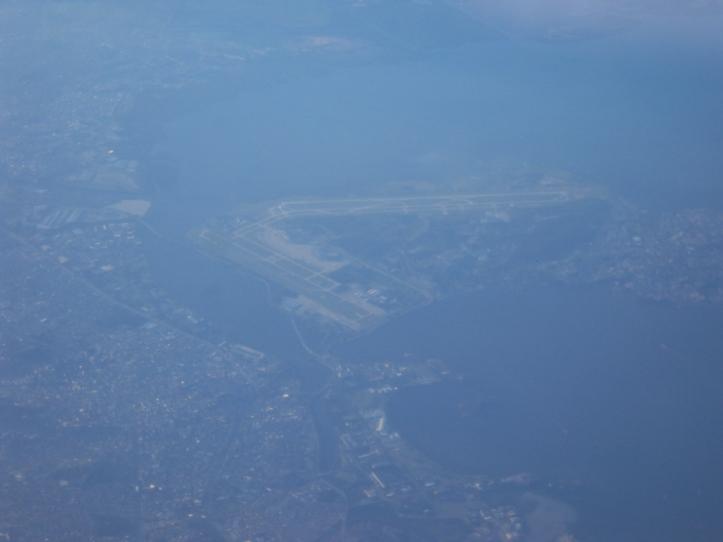 Aeropuerto de Galeão en Río de Janeiro desde el aire