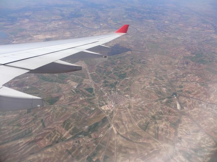 Aterrizando en Madrid, España (Cortesía: Juan Pablo Díaz)