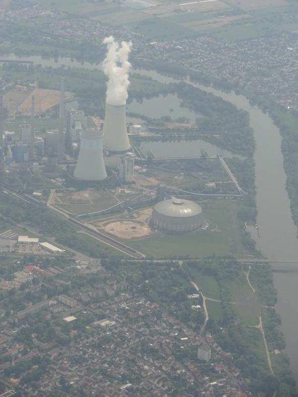 Aterrizando en Frankfurt, Alemania (Cortesía: Juan Pablo Díaz)