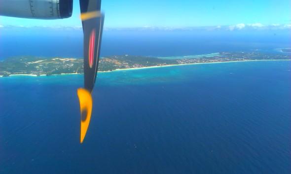 Descenso hacia el Aeropuerto de Boracay, Filipinas (Cortesía: José Carlos Contreras)