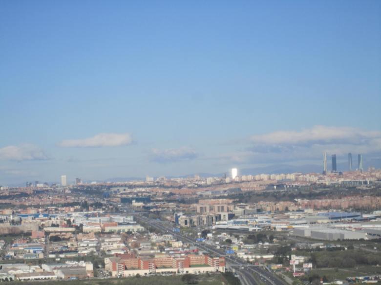 Descendiendo hacia Madrid (Cortesía: Aviación y Turismo)
