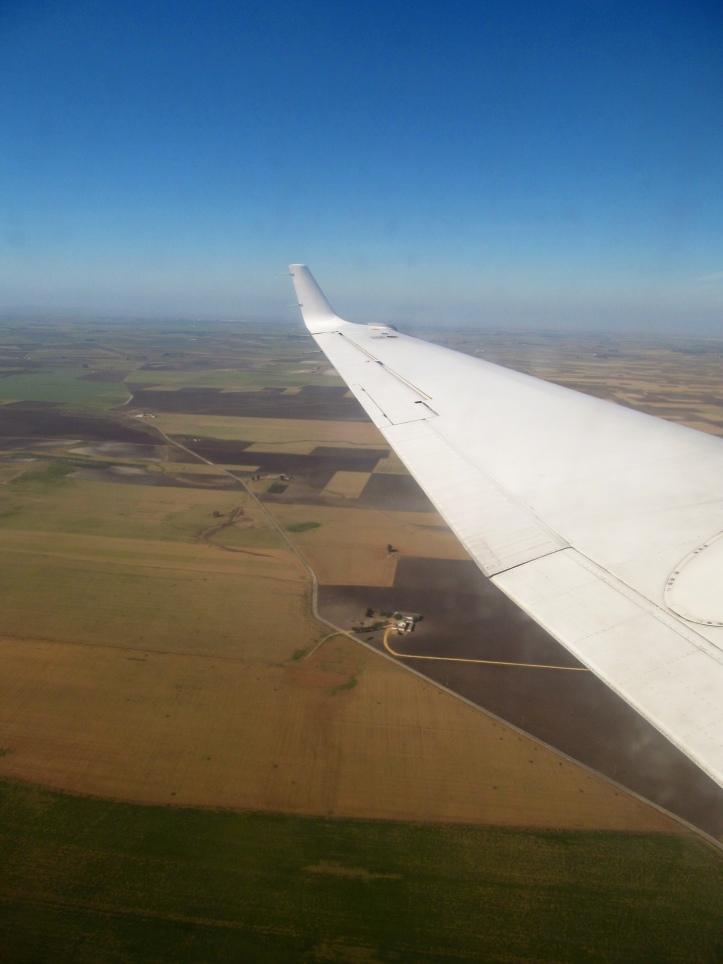 Descenso hacia el Aeropuerto Internacional de Sevilla, España (Cortesía: Ricardo Gutiérrez)