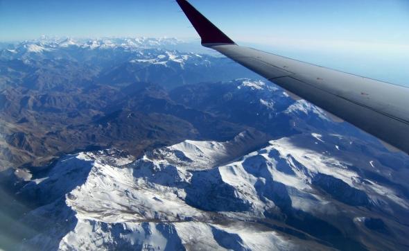 Descenso hacia Santiago de Chile (Cortesía: Ricardo Gutiérrez)