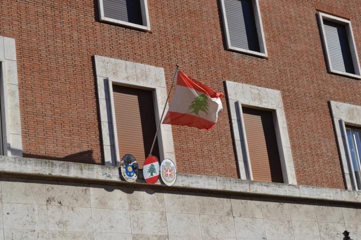Embajada del Líbano ante la Santa Sede - Roma, Italia / Embassy of Lebanon to the Holy See - Rome, Italy / Por: Blog de Banderas