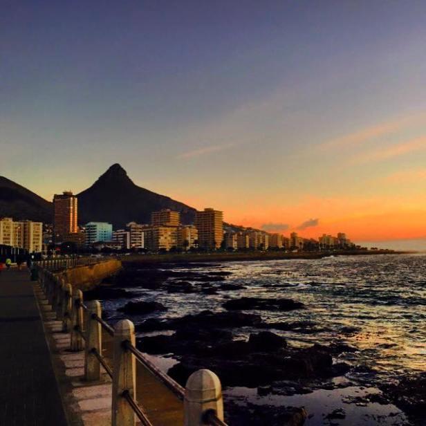 Atardecer sobre Ciudad del Cabo, Sudáfrica