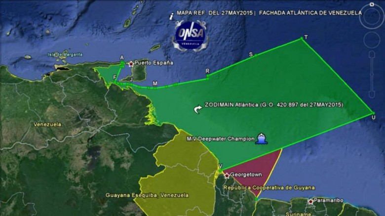 """""""Fachada Atlántica de Venezuela"""" creada por Nicolás Maduro según el decreto presidencial 1.787 (Fuente)"""