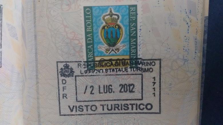 Sello Turístico - San Marino (Cortesía: Marcelo Vítor Bravo)