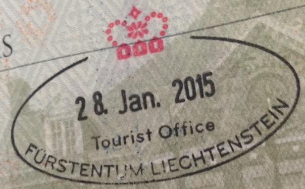 Sello Turístico en Liechtenstein (Cortesía: Pierre Thirion)