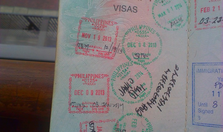 Sellos migratorios de Filipinas (Cortesía: Carlos Contreras)