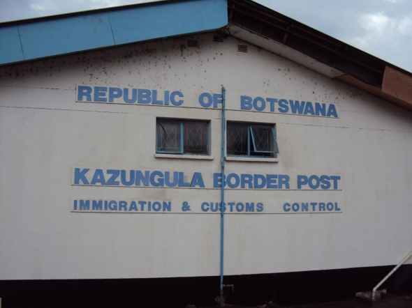 Puesto fronterizo en Botswana