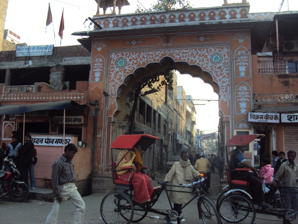 Puerta de entrada a Jaipur, India