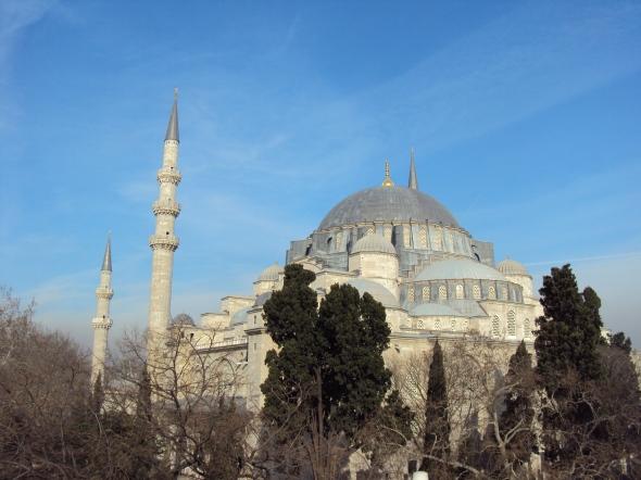 Mezquita Sulemaniye en Estambul, Turquía