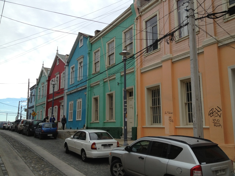 En las calles de Valparaíso, Chile