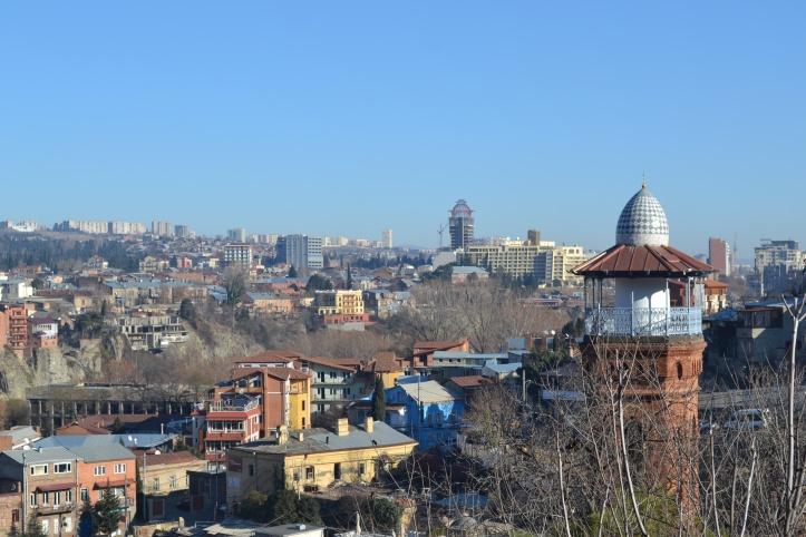 Tbilisi desde la colina