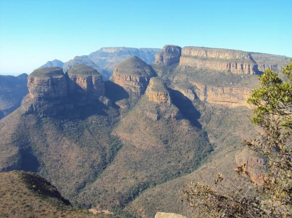 3 Rondavels en la Ruta Panorama, Sudáfrica