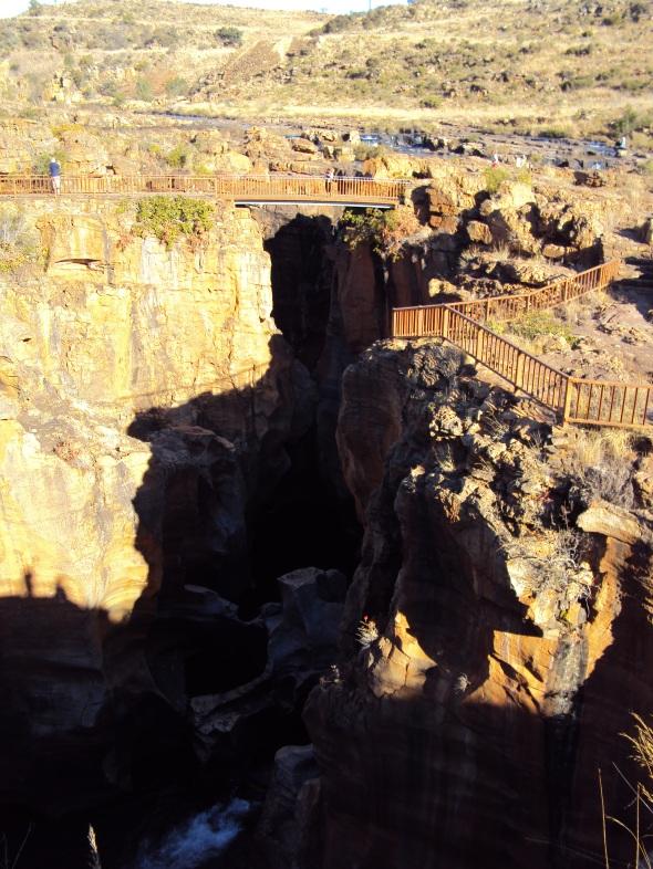 Bourke's Luck Potholes en la Ruta Panorama, Sudáfrica