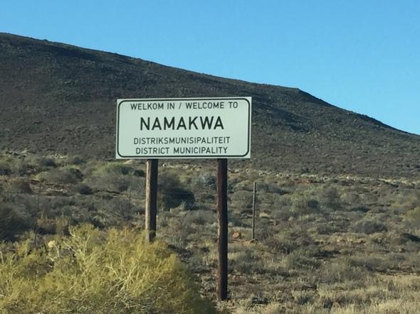 Ingresando a Namaqualand, Sudáfrica