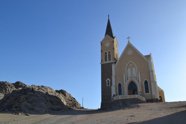 Felsenkirche en Lüderitz, Namibia
